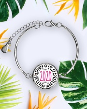 class of quarantined 2020 bracelet Metallic Circle Bracelet aos-bracelet-metal-front-lifestyle-7