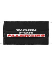 Worn for allergies Cloth face mask front