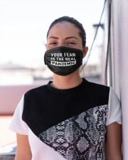 Your FEAR is the real Pandemic Cloth face mask aos-face-mask-lifestyle-04
