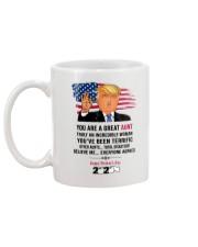 trump 2020 aunt mug toilet paper Mug back