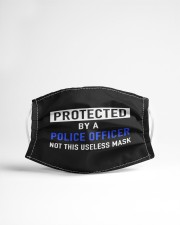 Protected by a police officer  Cloth face mask aos-face-mask-lifestyle-22