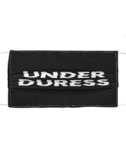 Under Duress Cloth face mask front
