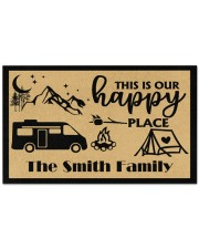 """Personalized This is our Happy Place 12 Doormat 28"""" x 17"""" front"""