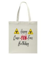Happy Quar-Ten-Tine Birthday Tote Bag tile