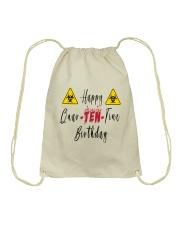 Happy Quar-Ten-Tine Birthday Drawstring Bag tile
