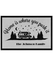 """Custom name doormat - Home is where you park it 04 Doormat 22.5"""" x 15""""  front"""