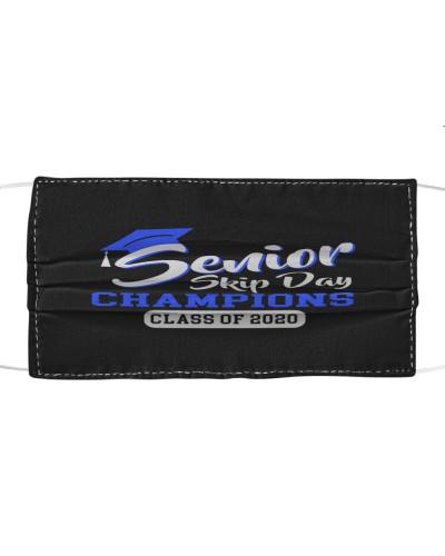 senior skip day champions class 2020 white blue