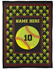 "Personalized Softball Large Fleece Blanket - 60"" x 80"" thumbnail"