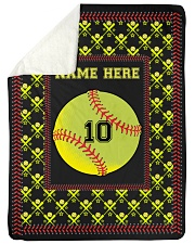 "Personalized Softball Large Sherpa Fleece Blanket - 60"" x 80"" front"