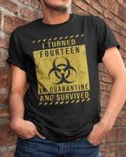fourteen - quarantine Classic T-Shirt apparel-classic-tshirt-lifestyle-26