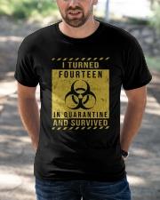 fourteen - quarantine Classic T-Shirt apparel-classic-tshirt-lifestyle-front-50