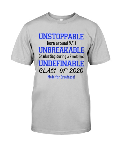 unstoppable class of 2020 white blue