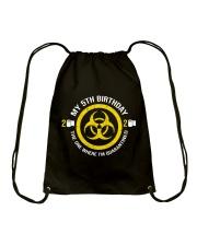 My 5Th Birthday-Quarantined Drawstring Bag thumbnail
