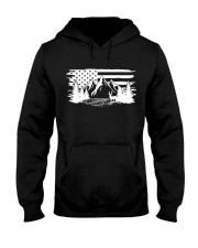 outdoor camping american flag Hooded Sweatshirt front