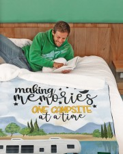 "Personalized Camping Blanket 20 Large Sherpa Fleece Blanket - 60"" x 80"" aos-sherpa-fleece-blanket-60x80-lifestyle-front-07"
