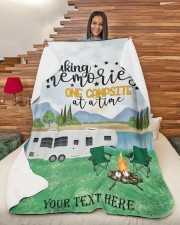 "Personalized Camping Blanket 20 Large Sherpa Fleece Blanket - 60"" x 80"" aos-sherpa-fleece-blanket-60x80-lifestyle-front-11"