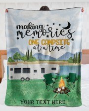 "Personalized Camping Blanket 20 Large Sherpa Fleece Blanket - 60"" x 80"" aos-sherpa-fleece-blanket-60x80-lifestyle-front-23"