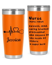 Personalized Nurse Tumbler - Custom name 20oz Tumbler front