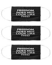 Freedom does not look like this Cloth Face Mask - 3 Pack front