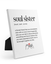 soul sister definition 8x10 Easel-Back Gallery Wrapped Canvas front