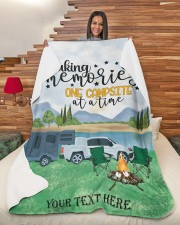 """Personalized Camping Blanket 28 Large Sherpa Fleece Blanket - 60"""" x 80"""" aos-sherpa-fleece-blanket-60x80-lifestyle-front-11"""