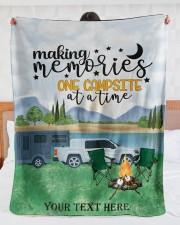 """Personalized Camping Blanket 28 Large Sherpa Fleece Blanket - 60"""" x 80"""" aos-sherpa-fleece-blanket-60x80-lifestyle-front-23"""