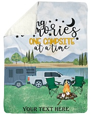 """Personalized Camping Blanket 28 Large Sherpa Fleece Blanket - 60"""" x 80"""" front"""