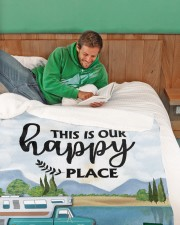 """Personalized Camping Blanket 3 Large Sherpa Fleece Blanket - 60"""" x 80"""" aos-sherpa-fleece-blanket-60x80-lifestyle-front-07"""