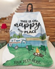 """Personalized Camping Blanket 3 Large Sherpa Fleece Blanket - 60"""" x 80"""" aos-sherpa-fleece-blanket-60x80-lifestyle-front-11"""