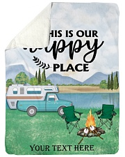 """Personalized Camping Blanket 3 Large Sherpa Fleece Blanket - 60"""" x 80"""" front"""