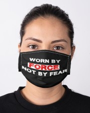 Worn by force not by fear Cloth face mask aos-face-mask-lifestyle-01