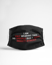 only wearing so sheeple dont have anxiety Cloth face mask aos-face-mask-lifestyle-22
