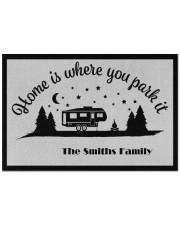 """Custom name doormat - Home is where you park it 08 Doormat 22.5"""" x 15""""  front"""