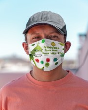 Freedom does not look like this - g r i n c h Cloth face mask aos-face-mask-lifestyle-06