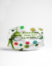 Freedom does not look like this - g r i n c h Cloth face mask aos-face-mask-lifestyle-22