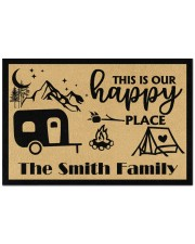 """Personalized This is our Happy Place 1 Doormat 22.5"""" x 15""""  front"""