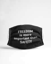 FREEDOM is more important than SAFETY Cloth face mask aos-face-mask-lifestyle-22