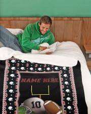 "Personalized Football Large Sherpa Fleece Blanket - 60"" x 80"" aos-sherpa-fleece-blanket-60x80-lifestyle-front-07"