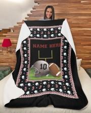 "Personalized Football Large Sherpa Fleece Blanket - 60"" x 80"" aos-sherpa-fleece-blanket-60x80-lifestyle-front-11"