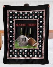 "Personalized Football Large Sherpa Fleece Blanket - 60"" x 80"" aos-sherpa-fleece-blanket-60x80-lifestyle-front-23"