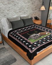 "Personalized Football Large Sherpa Fleece Blanket - 60"" x 80"" aos-sherpa-fleece-blanket-lifestyle-front-04"