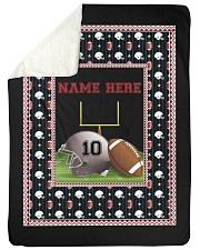 "Personalized Football Large Sherpa Fleece Blanket - 60"" x 80"" front"