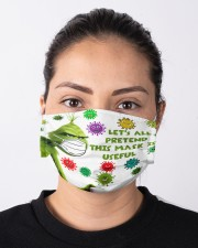 Let's All Pretend msk Is Useful - g r i n c h Cloth face mask aos-face-mask-lifestyle-01