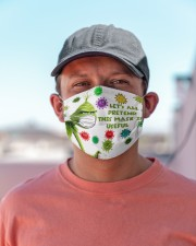 Let's All Pretend msk Is Useful - g r i n c h Cloth face mask aos-face-mask-lifestyle-06
