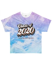 Class of 2020 quarantined tie dye purple sky All-over T-Shirt front