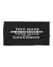 This mask your mask our governor useless Cloth face mask front