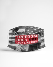 FREEDOM does not look like this flag Cloth face mask aos-face-mask-lifestyle-22
