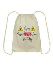 Happy Quar-Three-Tine Birthday Drawstring Bag thumbnail