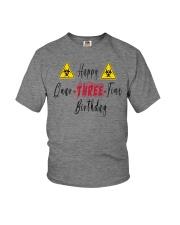 Happy Quar-Three-Tine Birthday Youth T-Shirt front