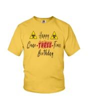 Happy Quar-Three-Tine Birthday Youth T-Shirt tile